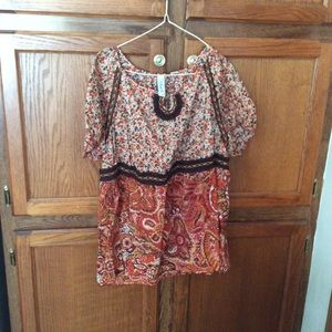 L.A. Blues women's blouse orange floral